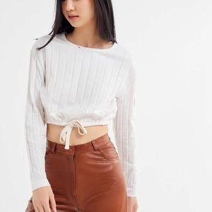 UO Keely Ribbed Crop Top